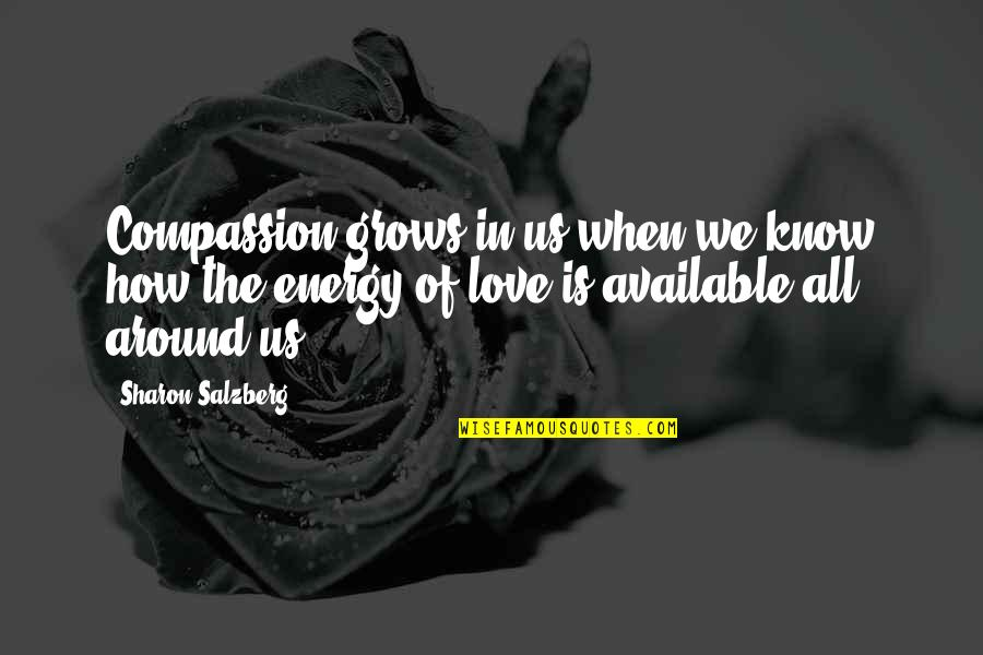 When Love Grows Quotes By Sharon Salzberg: Compassion grows in us when we know how