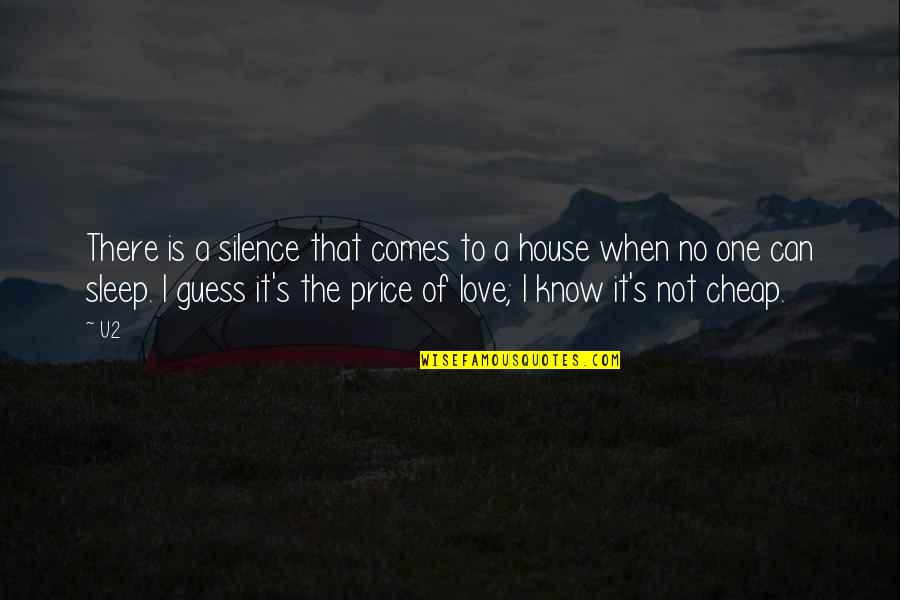 When There's No Love Quotes By U2: There is a silence that comes to a