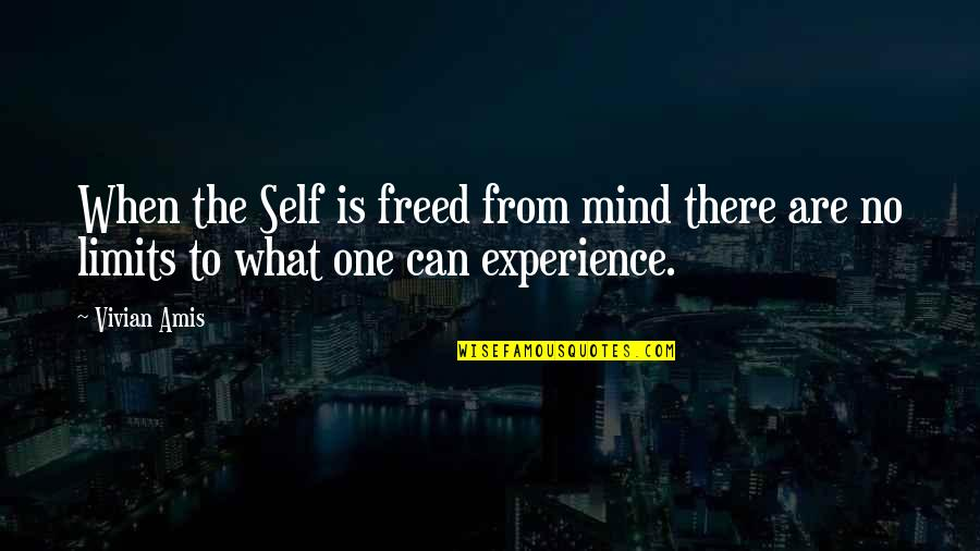 When There's No Love Quotes By Vivian Amis: When the Self is freed from mind there