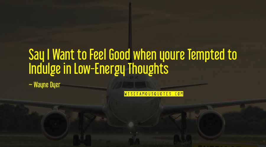 When You Feel So Low Quotes By Wayne Dyer: Say I Want to Feel Good when youre