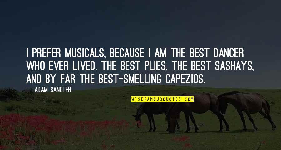 When You Think Everything Is Going Well Quotes By Adam Sandler: I prefer musicals, because I am the best