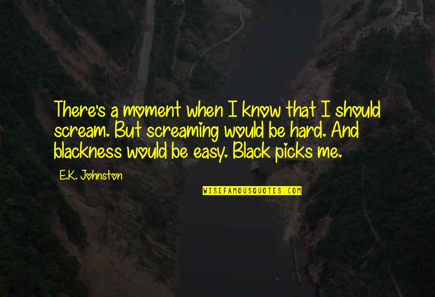When'e's Quotes By E.K. Johnston: There's a moment when I know that I