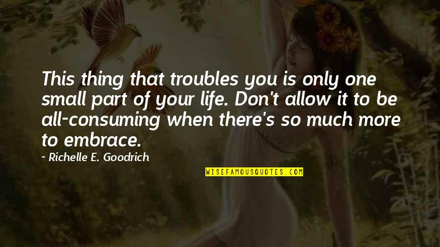 When'e's Quotes By Richelle E. Goodrich: This thing that troubles you is only one