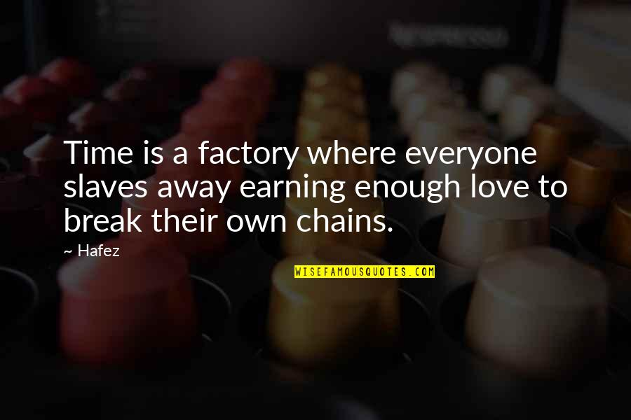 Where Is Everyone Quotes By Hafez: Time is a factory where everyone slaves away