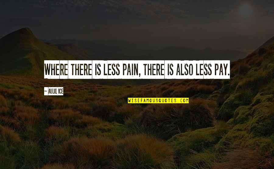 Where Is My Happiness Quotes By Auliq Ice: Where there is less pain, there is also