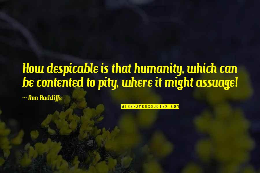 Where Is The Humanity Quotes By Ann Radcliffe: How despicable is that humanity, which can be