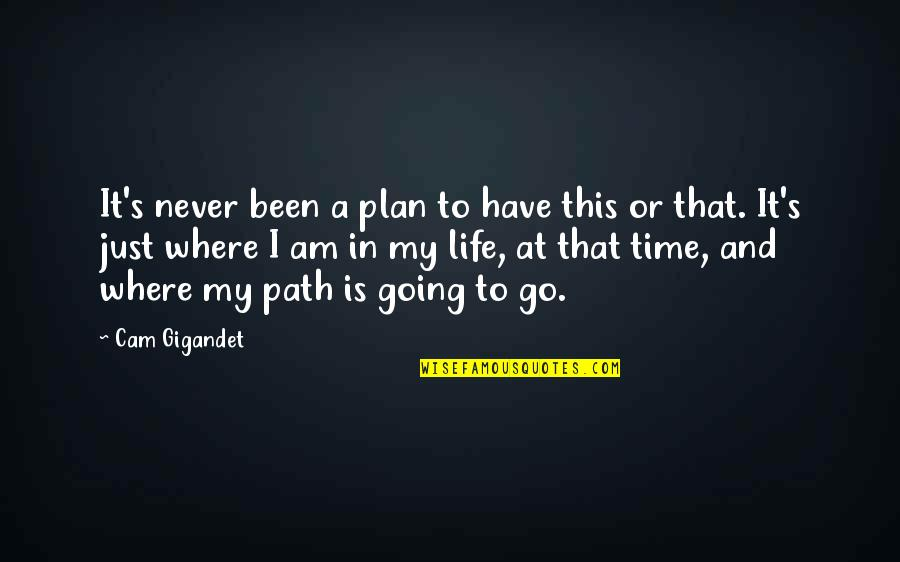 Where Life Is Going Quotes By Cam Gigandet: It's never been a plan to have this
