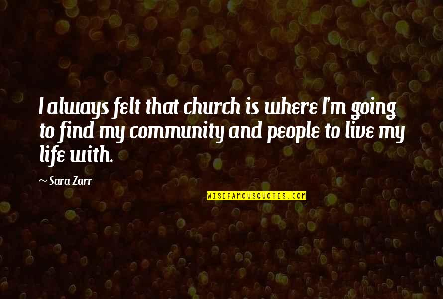 Where Life Is Going Quotes By Sara Zarr: I always felt that church is where I'm