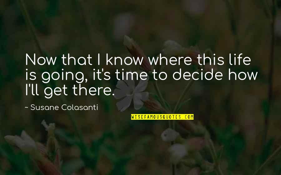 Where Life Is Going Quotes By Susane Colasanti: Now that I know where this life is