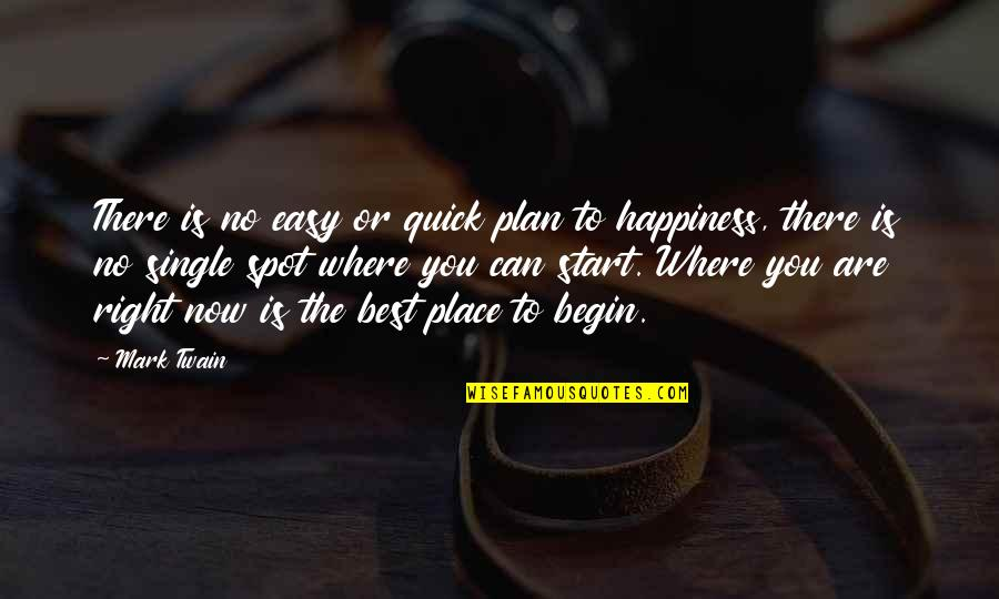 Where To Begin Quotes By Mark Twain: There is no easy or quick plan to