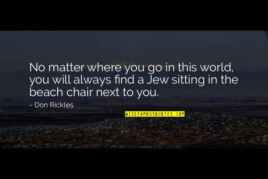 Where To Next Quotes By Don Rickles: No matter where you go in this world,