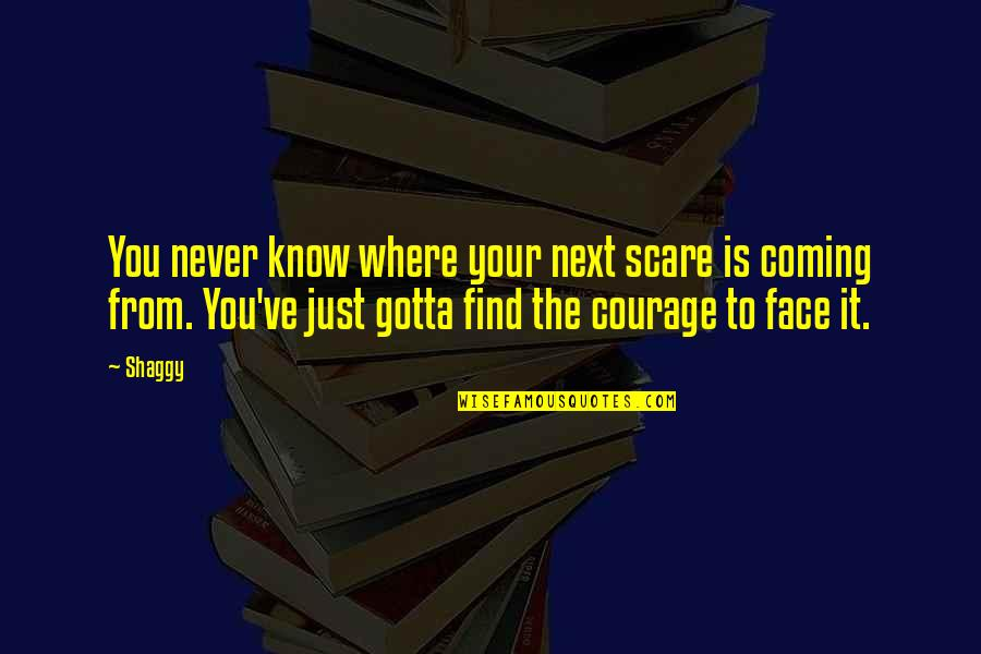 Where To Next Quotes By Shaggy: You never know where your next scare is