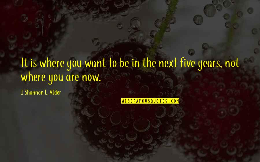 Where To Next Quotes By Shannon L. Alder: It is where you want to be in