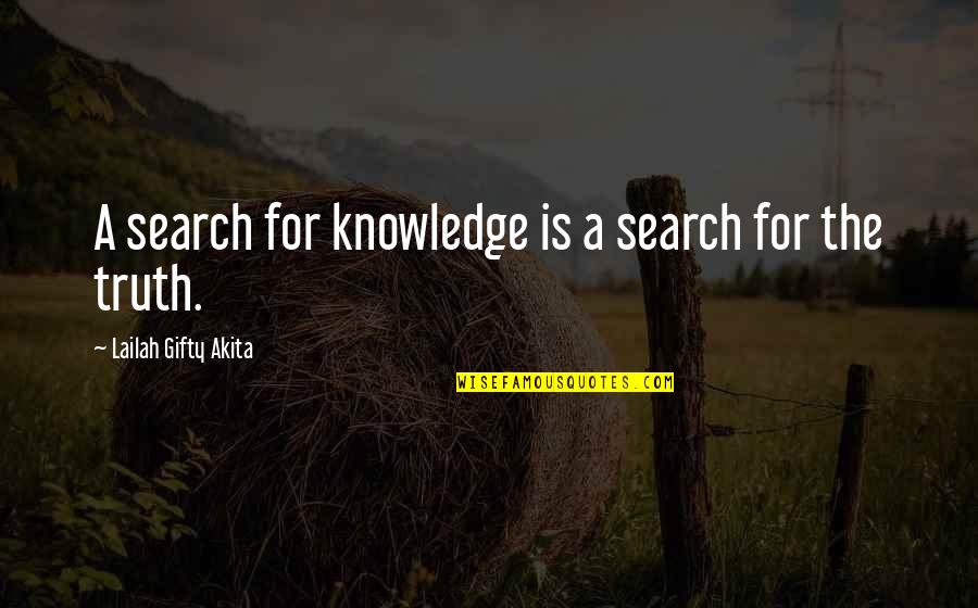 Where's God When It Hurts Quotes By Lailah Gifty Akita: A search for knowledge is a search for