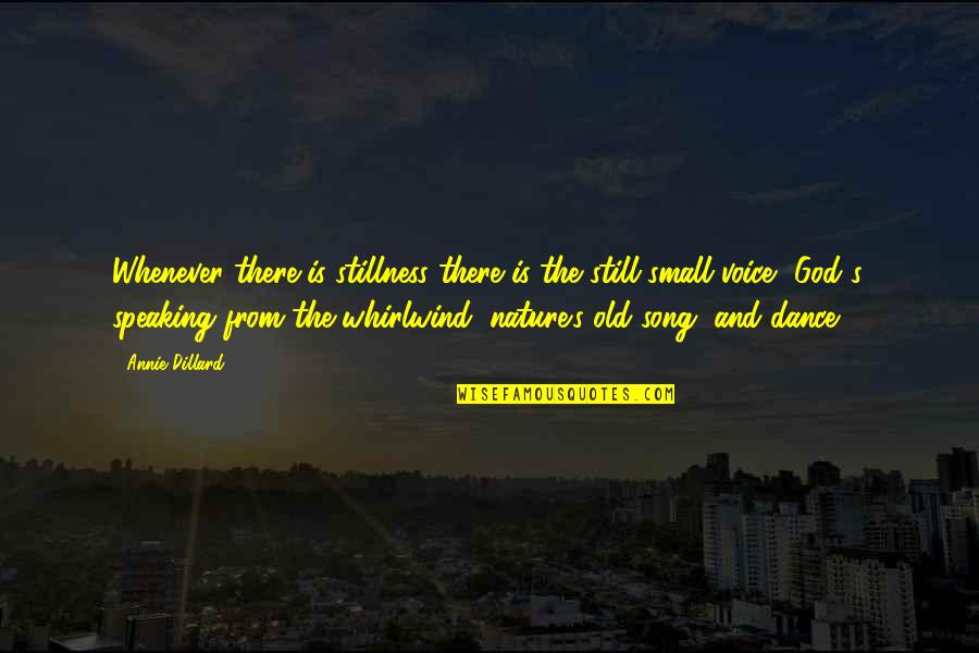 Whirlwind Quotes By Annie Dillard: Whenever there is stillness there is the still