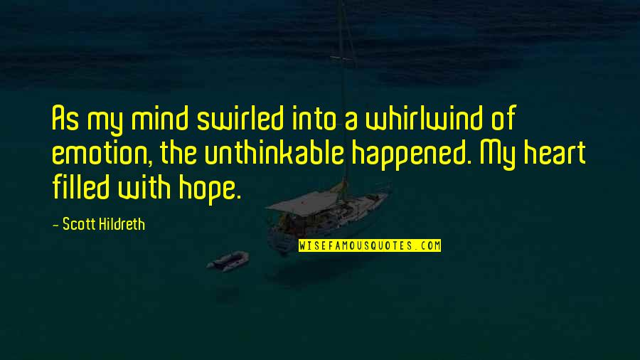 Whirlwind Quotes By Scott Hildreth: As my mind swirled into a whirlwind of