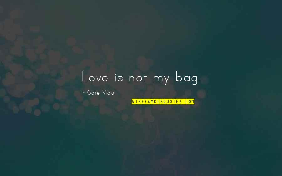 White Collar Crimes Quotes By Gore Vidal: Love is not my bag.