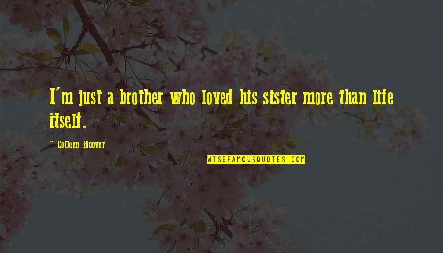 Who Is Sister Quotes By Colleen Hoover: I'm just a brother who loved his sister