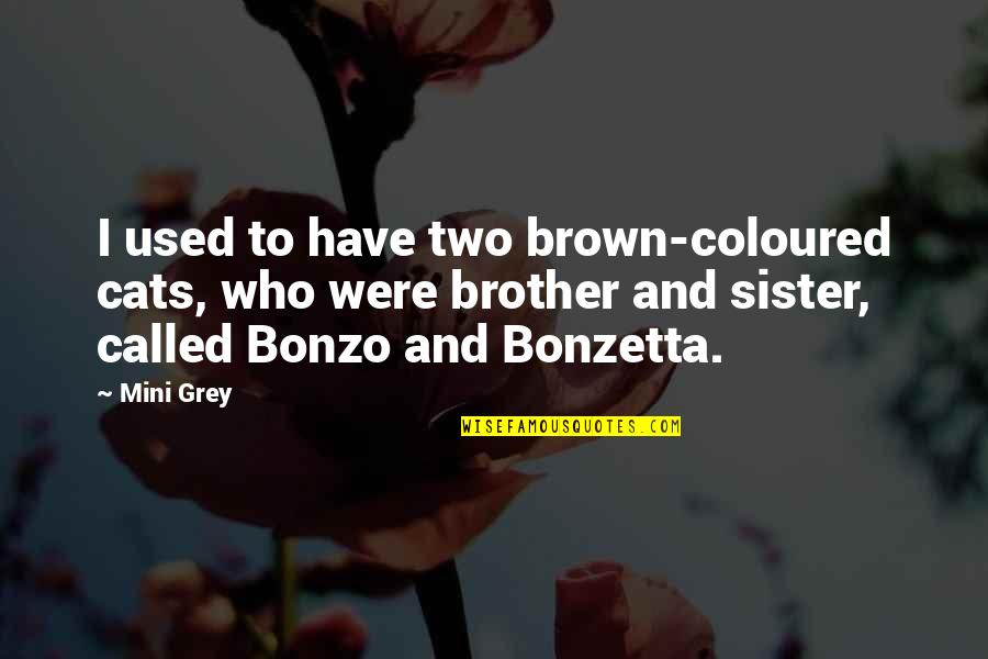 Who Is Sister Quotes By Mini Grey: I used to have two brown-coloured cats, who