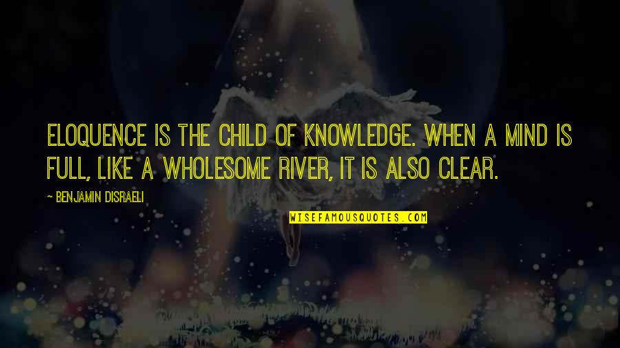 Wholesome Quotes By Benjamin Disraeli: Eloquence is the child of knowledge. When a