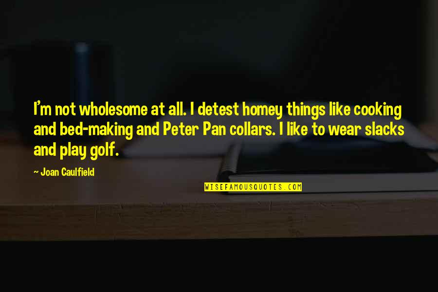 Wholesome Quotes By Joan Caulfield: I'm not wholesome at all. I detest homey