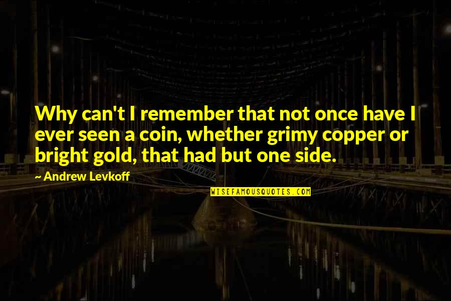 Why Can't It Be The Two Of Us Quotes By Andrew Levkoff: Why can't I remember that not once have