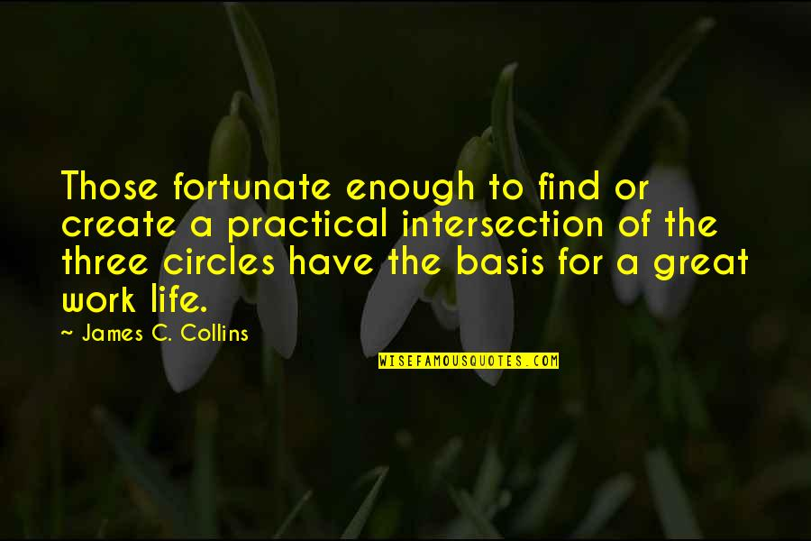 Why Have Things Changed Quotes By James C. Collins: Those fortunate enough to find or create a