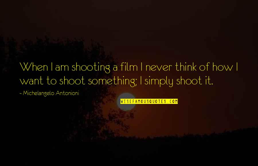 Wicked Games Quotes By Michelangelo Antonioni: When I am shooting a film I never