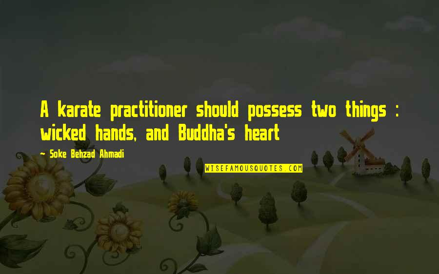Wicked Love Quotes By Soke Behzad Ahmadi: A karate practitioner should possess two things :