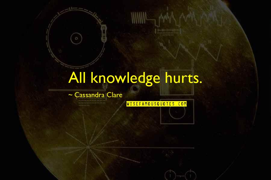 Wicket Keeper Quotes By Cassandra Clare: All knowledge hurts.