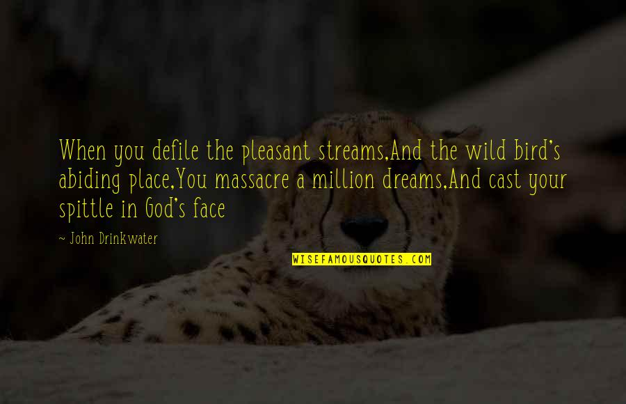 Wild Dreams Quotes By John Drinkwater: When you defile the pleasant streams,And the wild
