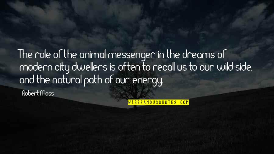 Wild Dreams Quotes By Robert Moss: The role of the animal messenger in the