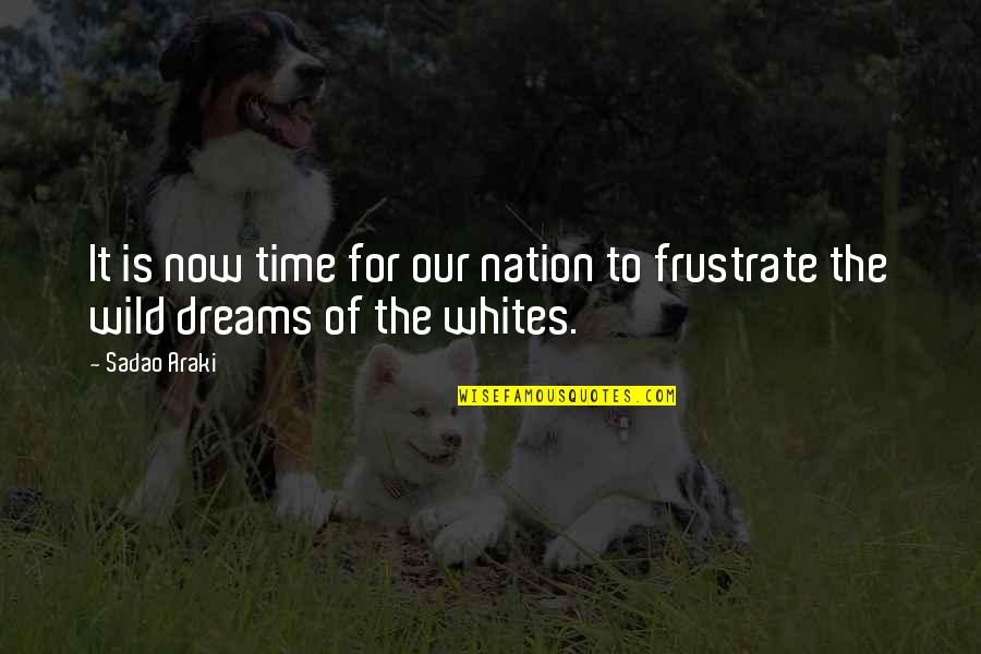 Wild Dreams Quotes By Sadao Araki: It is now time for our nation to