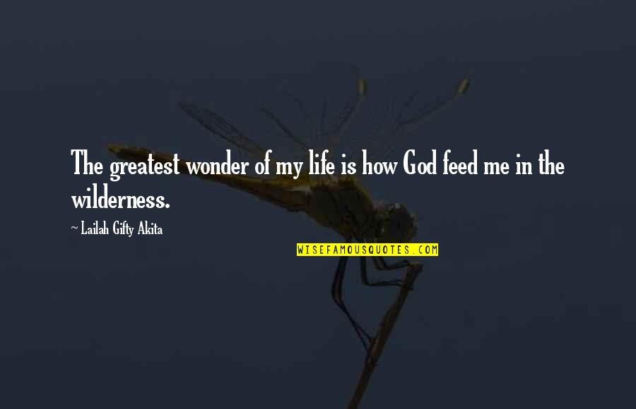 Wilderness And Life Quotes By Lailah Gifty Akita: The greatest wonder of my life is how