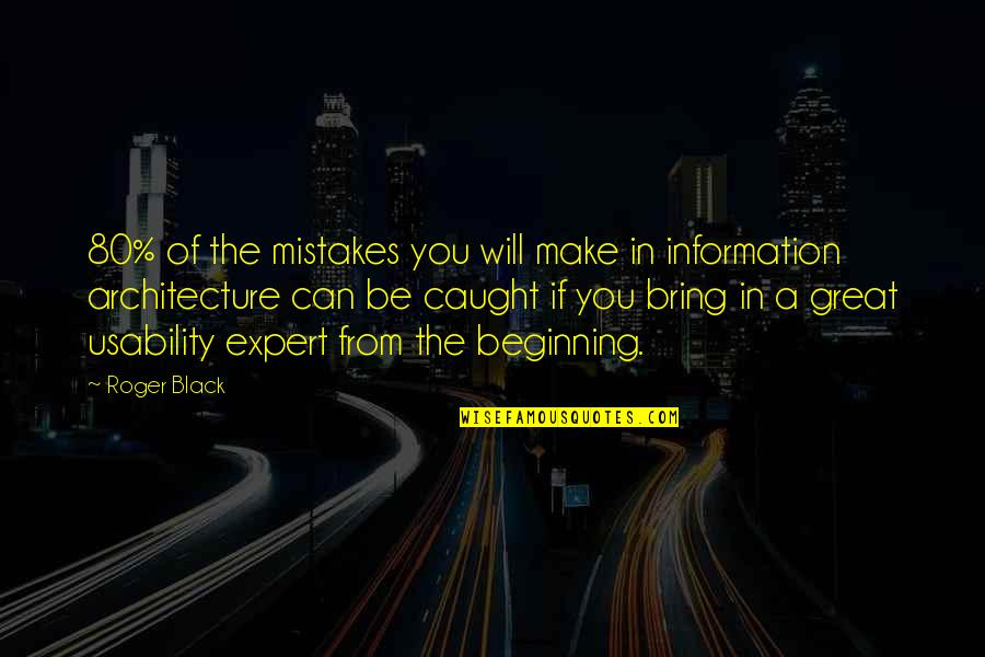 Will All Make Mistakes Quotes By Roger Black: 80% of the mistakes you will make in