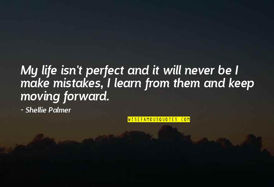 Will All Make Mistakes Quotes By Shellie Palmer: My life isn't perfect and it will never