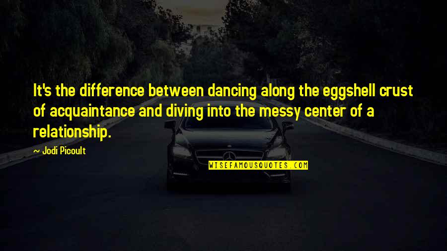 Will Ferrell Neil Diamond Quotes By Jodi Picoult: It's the difference between dancing along the eggshell