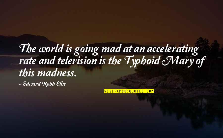 William Beech Quotes By Edward Robb Ellis: The world is going mad at an accelerating