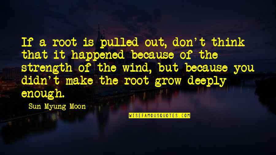 William Bramwell Quotes By Sun Myung Moon: If a root is pulled out, don't think