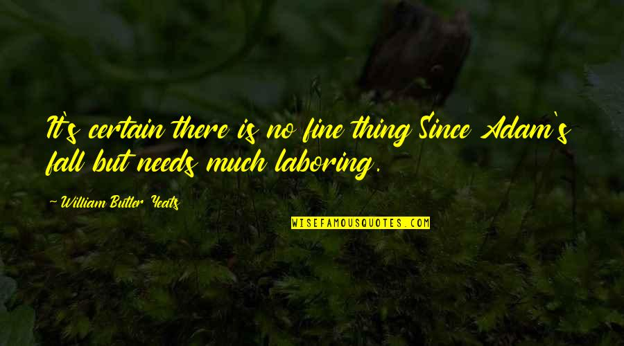 William Butler Yeats Quotes By William Butler Yeats: It's certain there is no fine thing Since