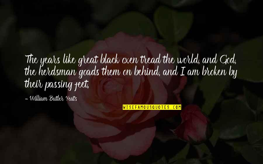 William Butler Yeats Quotes By William Butler Yeats: The years like great black oxen tread the