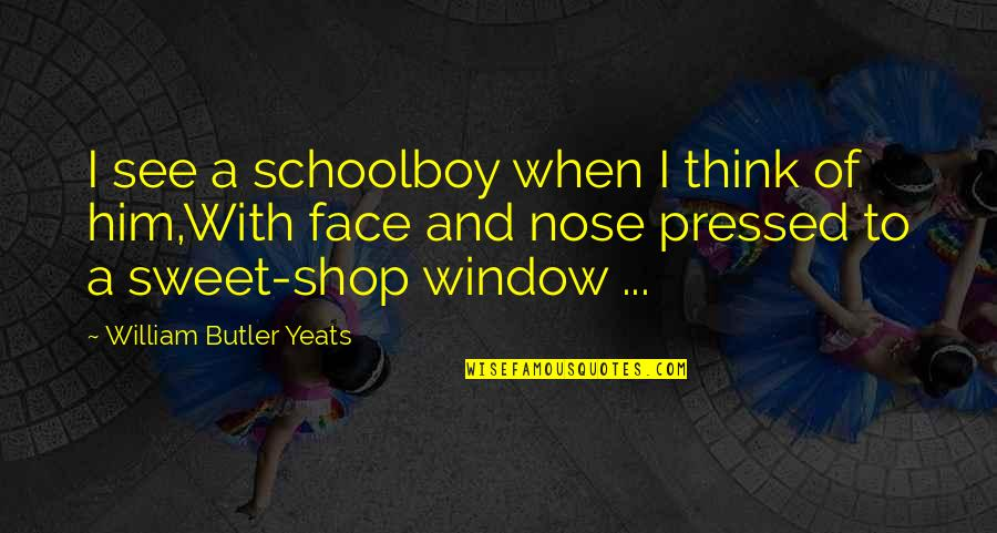 William Butler Yeats Quotes By William Butler Yeats: I see a schoolboy when I think of