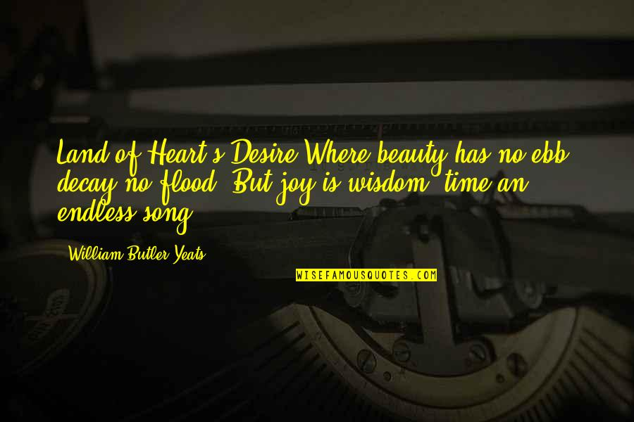 William Butler Yeats Quotes By William Butler Yeats: Land of Heart's Desire Where beauty has no