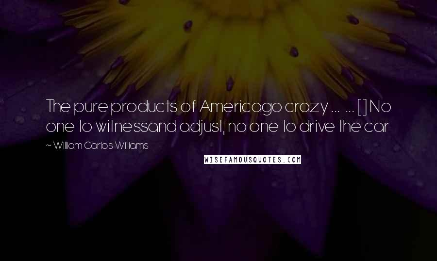 William Carlos Williams quotes: The pure products of Americago crazy ... ... [] No one to witnessand adjust, no one to drive the car