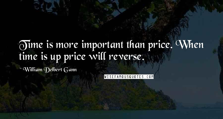 William Delbert Gann quotes: Time is more important than price. When time is up price will reverse.