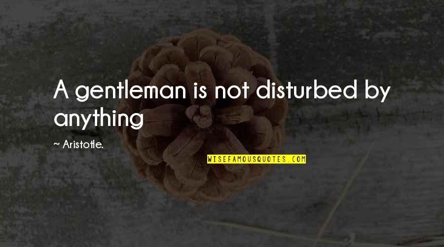 William Gibson Count Zero Quotes By Aristotle.: A gentleman is not disturbed by anything