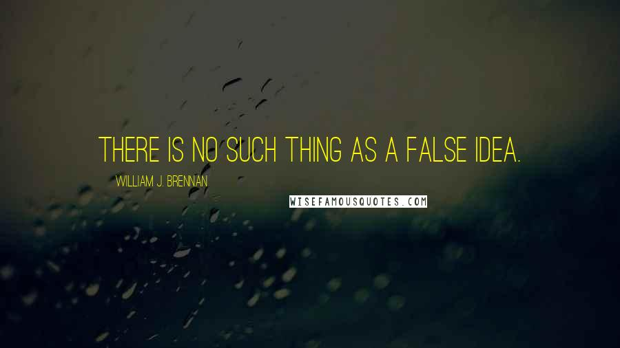 William J. Brennan quotes: There is no such thing as a false idea.