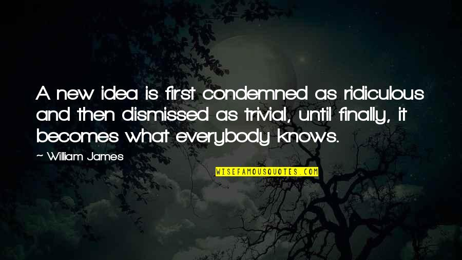 William James Quotes By William James: A new idea is first condemned as ridiculous