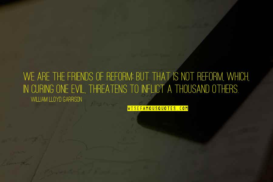 William Lloyd Garrison Quotes By William Lloyd Garrison: We are the friends of reform; but that