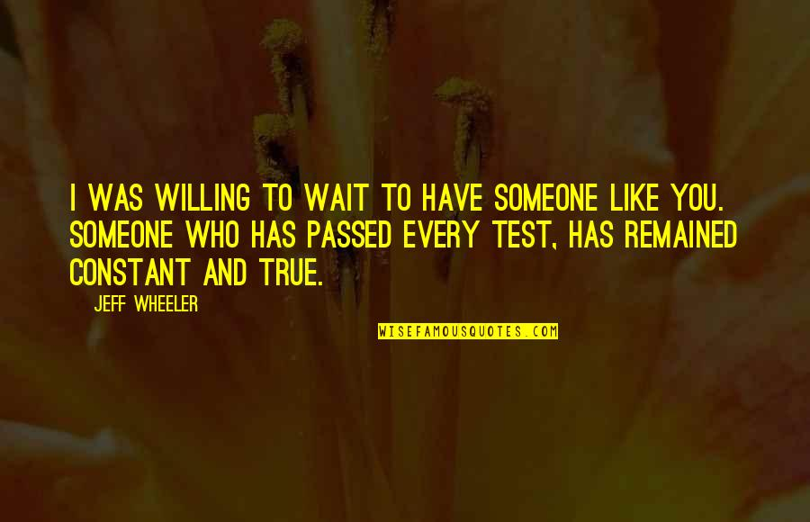 Willing To Wait Quotes By Jeff Wheeler: I was willing to wait to have someone